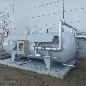 沼尻産業株式会社 物流センター屋内消火栓設備設置工事(圧力水槽方式 加圧送水装置)