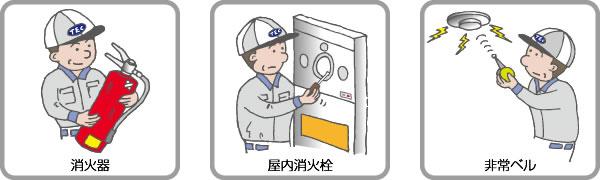 消防設備点検イラスト